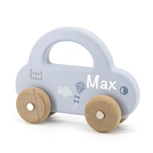 Holzauto blau | Label-Label | Personalisiert