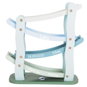 Holzspielzeug Kugelbahn in blau | small foot | Personalisiert