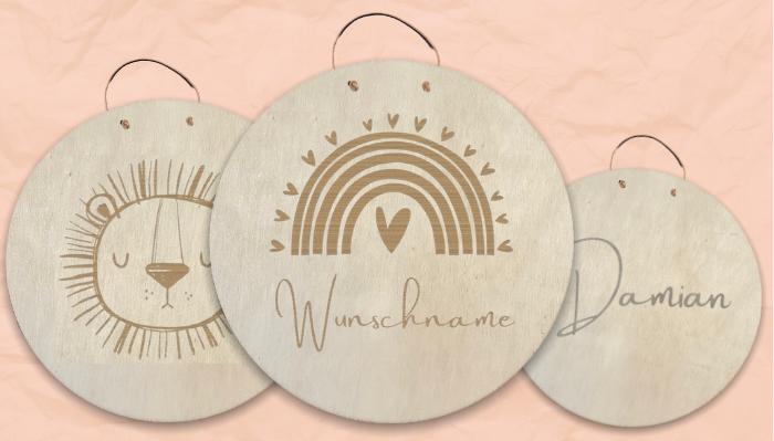 Personalisierte Holz Namensschilder Holzschilder für Kind & Baby