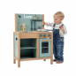 Preview: Kinder Holz-Spielküche in blau Personalisiert Label-Label LLWT-25415 5420067925415